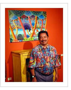 Alejandro Benito Cabrera at Indigo Arts Gallery, Oct. 9, 2003.