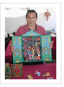 Claudio Jimenez Quispé at International Folk Art Market Santa Fe, NM, July 2004