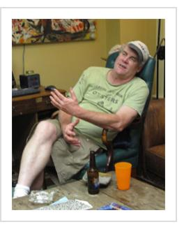 Shawn Crookshank. June 2011 (Photograph © Anthony Hart Fisher 2011).