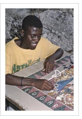 Edgar's Studio, Bel-Air, Port-au-Prince, 1995 (Photograph © Anthony Hart Fisher 1995).
