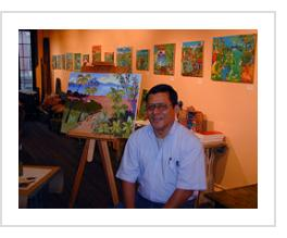 Ignacio Fletes Cruz at Indigo Arts. March 6, 2004.