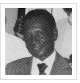 Gerard Valcin. (photograph reproduced from Haitian Art: The Legend and Legacy of the Naive Tradition by L.G. Hoffman, Davenport Art Gallery, 1985)