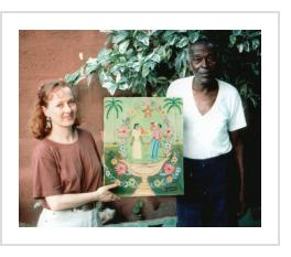 Alexandre Gregoire with Deb Cholet. Port-au-Prince, 1995 (Photograph © Anthony Hart Fisher 1995).