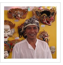 Balinese master mask artist Ida Bagus Anom Suryawan in Santa Fe, NM. July, 2011. (Photograph © Anthony Hart Fisher 2011).