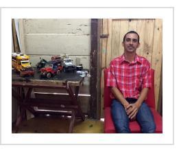 Leandro Gomez Quintero in his Baracoa, Cuba studio (courtesy of IFAM).
