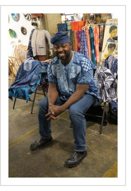 Gasali Adeyemo at Indigo Trunk Show - Indigo Arts Gallery, May 2018.