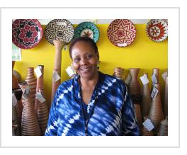 Gahaya Links co-founder, Janet Nkubana. July, 2015 (Photograph © Anthony Hart Fisher)