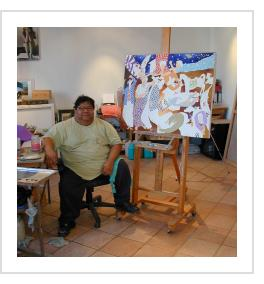 Leovigildo martinez in his studio, Oaxaca, 2006 ((Photograph © Anthony Hart Fisher)