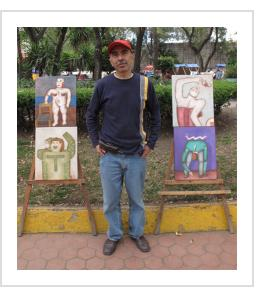 Mario Romero in Mexico City. January 2010 (Photograph © Anthony Hart Fisher).