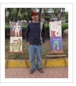 Mario Romero in Mexico City. January 2010 (Photograph © Anthony Hart Fisher).