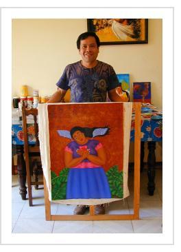 Fernando Olivera in his studio - Oaxaca, 2006 (Photograph © Anthony Hart Fisher)