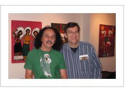 Ralfka Gonzalez with Tony Fisher at Ralfka's 2011 Philadelphia exhibit