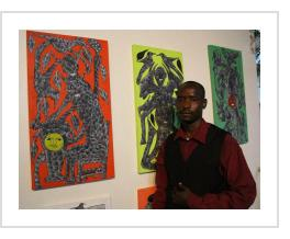 Richard Nesly at Institut Francais en Haiti exhibit, 2015