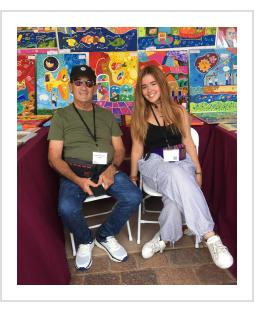 Roberto Gil Esteban and his granddaughter in Santa Fe, NM. July, 2021. (Photograph © Anthony Hart Fisher 2021).