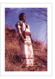 Huichol Artist/Shaman José Benitez Sanchez from Mythic Visions: Yarn Paintings of a Huichol Shaman courtesy of the University of Pennsylvania's Museum of Archaeology and Anthropology