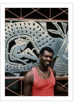 Serge Jolimeau, Croix-des-Bouquets, Haiti, 1991 (Photograph © Anthony Hart Fisher 1991)