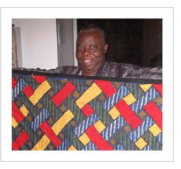 """Tunde Odunlade with """"Patterns of Hope"""" (in Philadelphia), October 2011 (Photograph © Anthony Hart Fisher 2011)."""