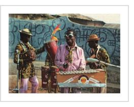 Twins Seven-Seven, with his band, the Golden Cabretas, in 1971, as reproduced in the CD, Nigeria Special: Volume 2 - Modern Highlife, Afro Sounds & Nigerian Blues 1970-6, Sound Way Records, 2010 (photo courtesy of the publisher).