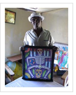 Georges Valris at his home in Christ Roi, Port-au-Prince, Haiti, January 2014 ( Photograph © Anthony Hart Fisher 2014)