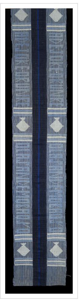 Indigo Ashoké (aso oke) Cloth
