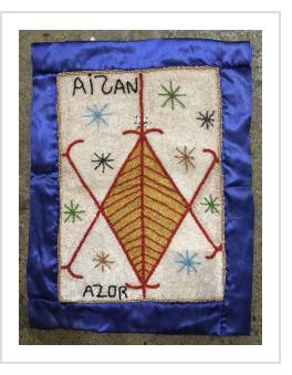 Aizan Beaded Vodou Flag