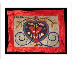 Erzulie Freda Beaded Vodou Flag