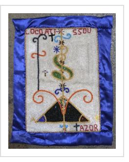 Loco Atissou Beaded Vodou flag