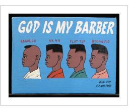 GOD IS MY BARBER signboard - Babs (Burkina Faso) 2019