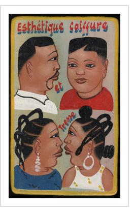 """Esthetique Coiffure"" Mini Hairdresser's Sign"