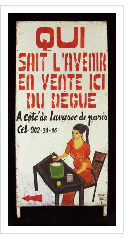 QUI SAIT L'AVENIR EN VENTE ICI DU DEGUE - Trade Sign