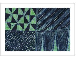 Yoruba Indigo Batik Cloth by Gasali Adeyemo