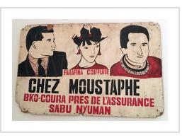 """""""Chez Moustaphe"""" Hairdresser Sign"""