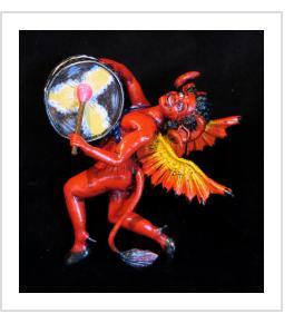 Diablo Drummer - retablo figure