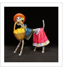 Calavera Dog - Retablo Figure