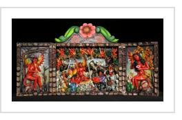 Nacimiento de los Diablos (The Birth of Evil) - retablo