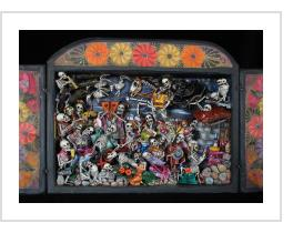 Party in the Cemetery - Day of the Dead Retablo (Version 16)