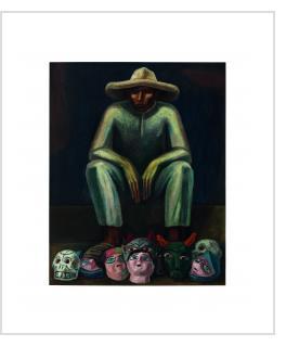 Mask seller - José Chavez Morado (photo courtesy of Christie's)