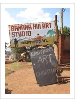 The Banana Hill Art Studio, outside of Nairobi, was the incubator for many of Kenya's contemporary artists, February 2011. (Photograph © Anthony Hart Fisher)
