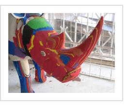 The final product. A large rhino. (Photograph © Anthony Hart Fisher 2011).