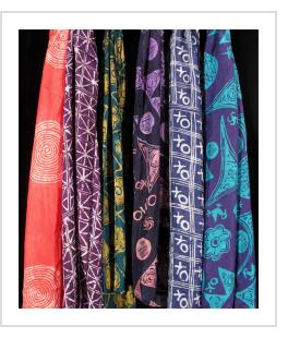 Batik and tie-dye silk scarves