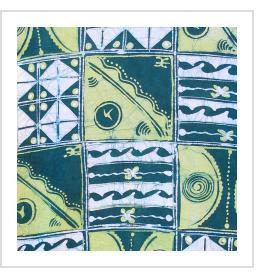 Batik and Indigo Tie-dye T-shirts by Gasali Adeyemo of Nigeria