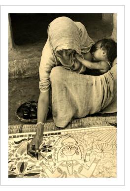 Photograph by Édouard Boubat - Mithila, India 1973