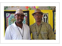 Valentin Valris (Haiti) and William Adjété Wilson (Benin). July 2015 ( Photograph © Anthony Hart Fisher 2015)å