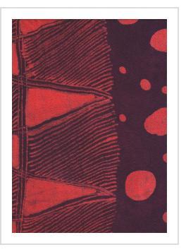 Batik Scarf on Rayon by Gasali Adeyemo