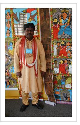 Gurupada Chitrakar in Santa Fe, 2006