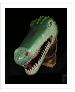 Crocodile Carnival Mask