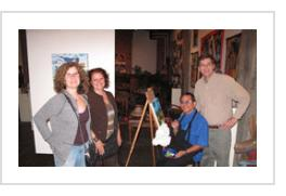 Beth, Trish, Ignacio and Tony at Indigo Arts, April 14, 2011.