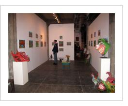 Ignacio Fletes Cruz exhibit at Indigo Arts, April 9, 2011.