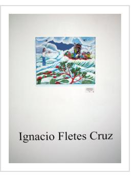 Ignacio Fletes Cruz exhibit at Indigo Arts, April 9, 2011.