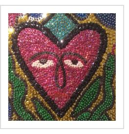 """Erzulie"" - sequinned flag by Georges Valris (Haiti)"